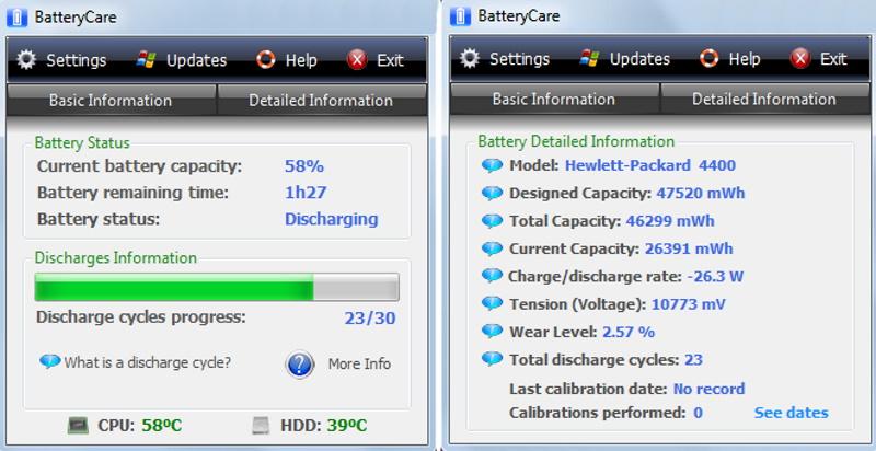 Программа для аккумулятора ноутбука - BatteryCare
