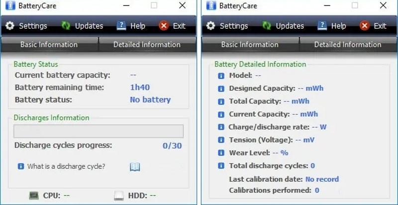 Программа BatteryCare